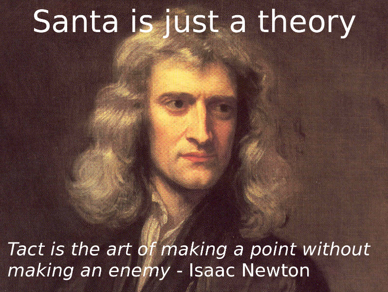 Santa is just a theory