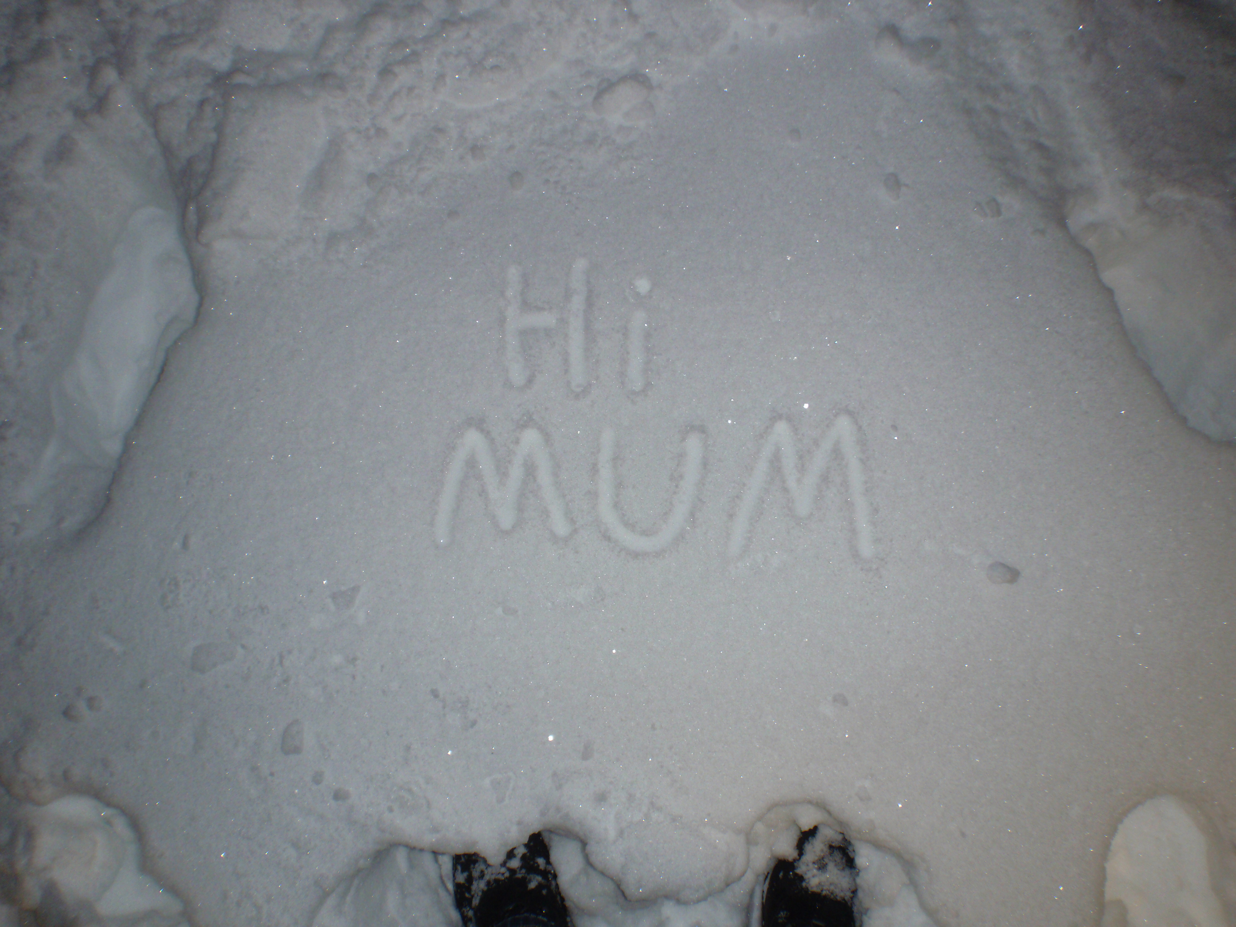 Snow for my mum