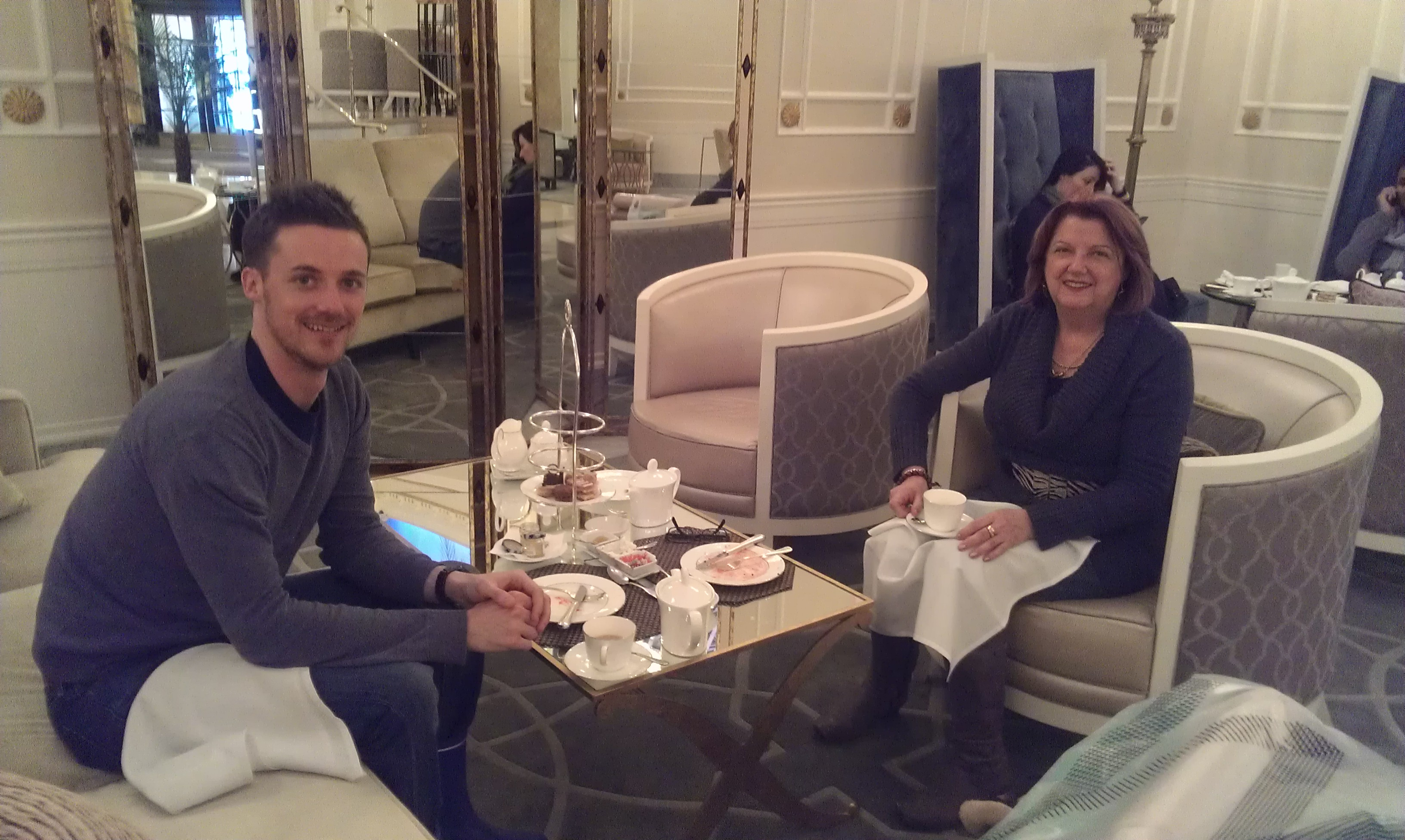 High tea with my Mum