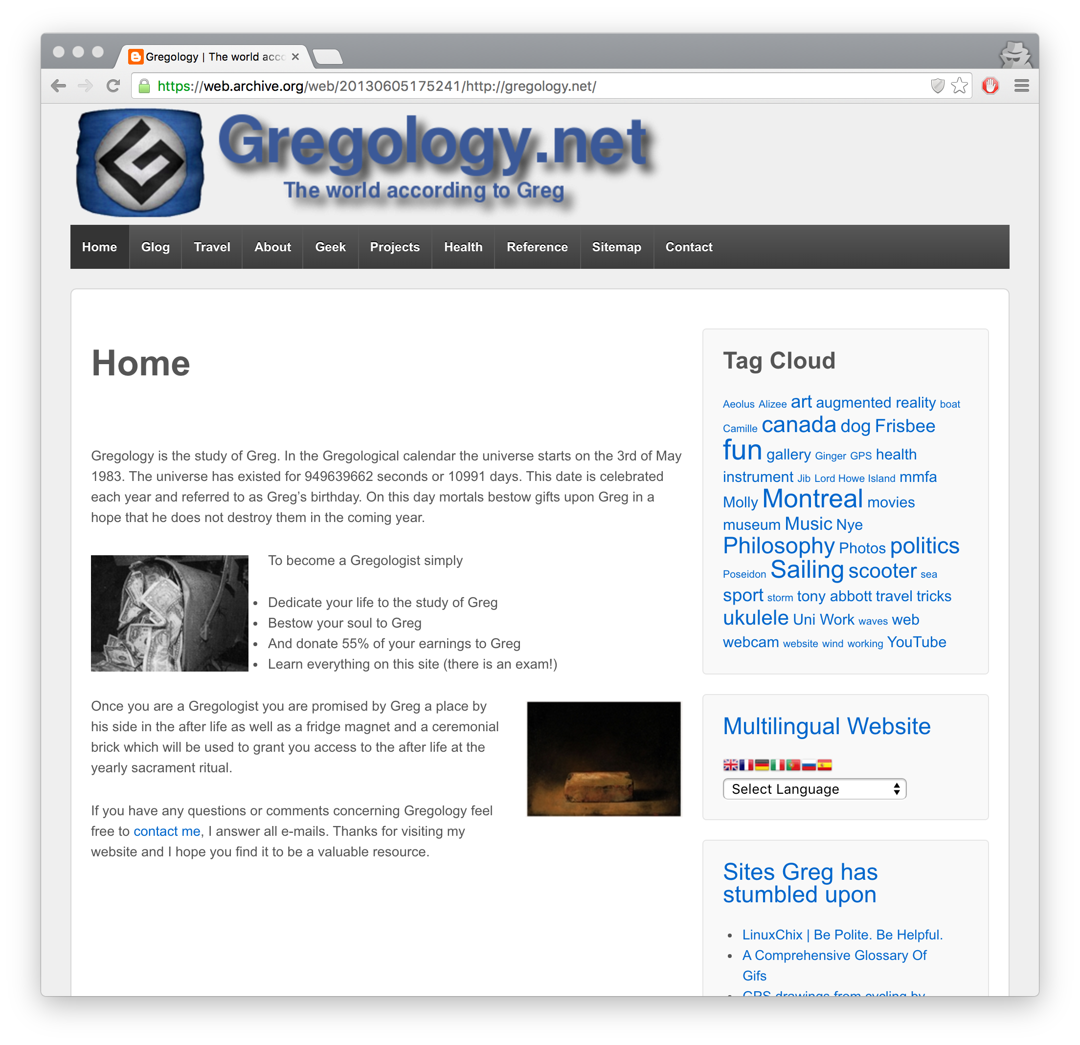 Gregology.net 2012 version