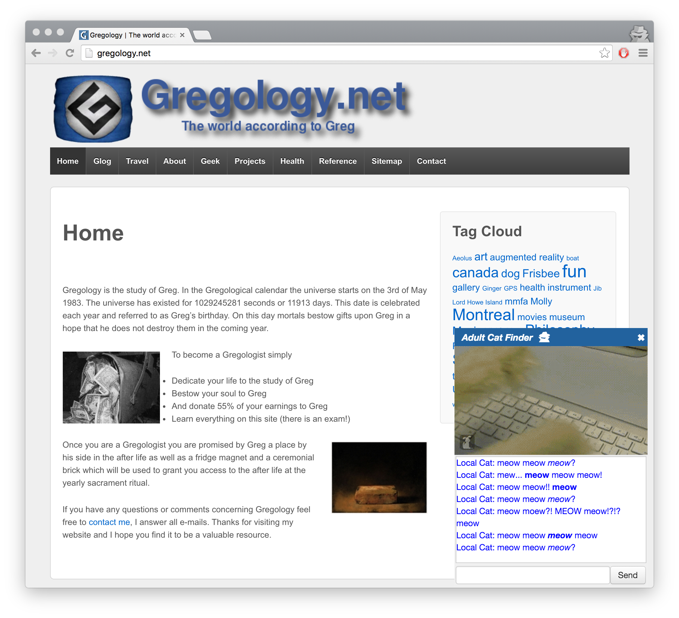 Gregology.net 2015 version