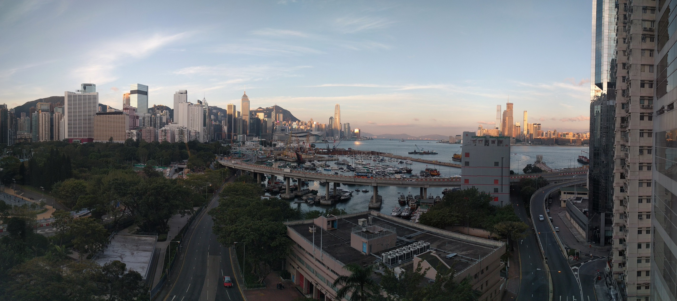 We were welcomed at 6am with a beautiful Sunrise over Hong Kong Harbour